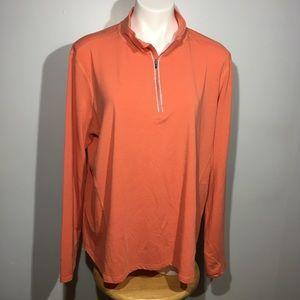Carhartt Orange Quarter Zip Force Top XXL